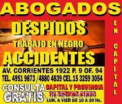 ABOGADOS EN CAPITAL,ACCIDENTES DE TRANSITO,ACCIDENTES DE TRABAJO, ZONA ONCE