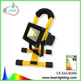 Portable rechargeable LED flood light 10W