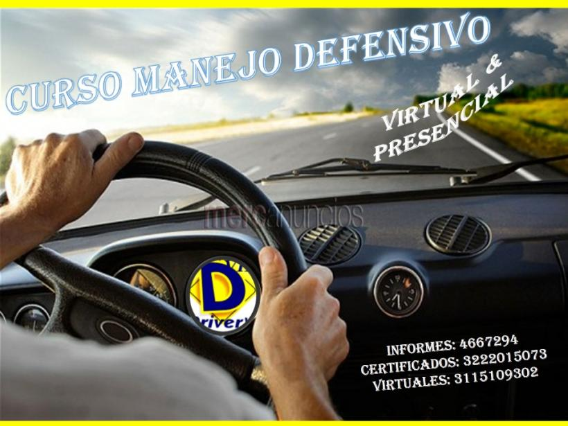 Curso de manejo defensivo certificado, virtualmente