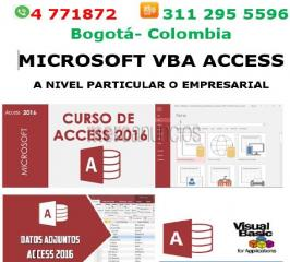 Access visual basic  Bogotá, Curso, asesorias, clases, Acces macros vba, as