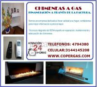 Chimeneas a gas. Financiación a través de la factura.