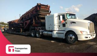 Fletes en low boy desmontable Monterrey
