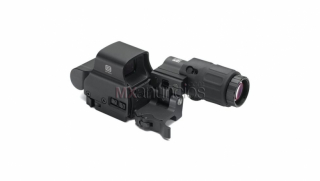 Eotech holographic hybrid green dot sight w/ g33 magnifier and sts