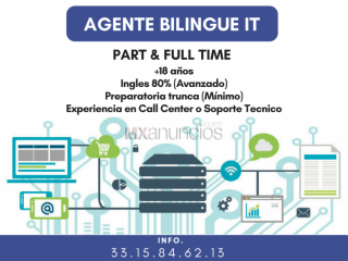 Agente Bilingue Part Time (Con Experiencia)