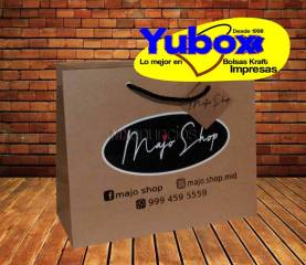 Bolsa papel kraft personalizada boutique