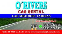 renta de autos o'rivers en merida yucatan