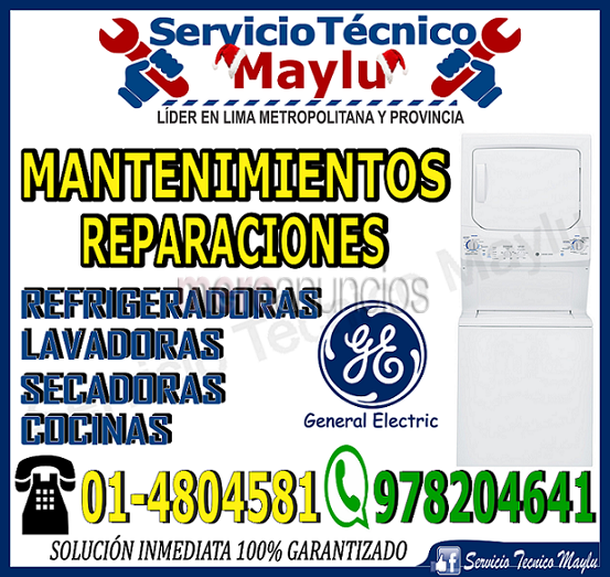 Servicio tecnico general electric // reparacion   en chorrillo