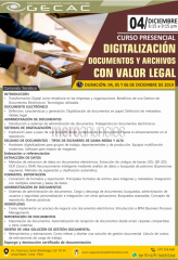 Curso digitalización documentos y archivos con valor legal