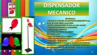 Dispensador mecanico color rojo + parante de metal / incotel/solicitelos