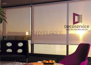 Cortinas, persianas, rollers screen y estores cotizamos a domicilio