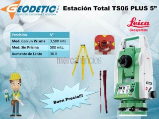 Estación total marca leica modelo ts06 plus 5""