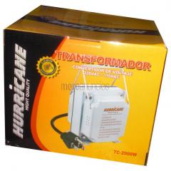 Transformador 220v a 110v - 2000 watts - gris - hurricane