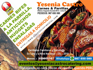 Delivery – parrillas, comidas catering lima 2020