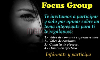 Focus Group participa regalo vale de compras supermercados