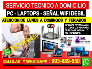 Tecnico de internet pc laptops repetidores wifi cableados